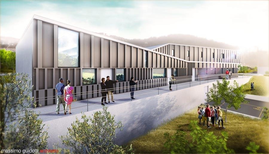 Progettazione uffici pubblici - banca Buccino