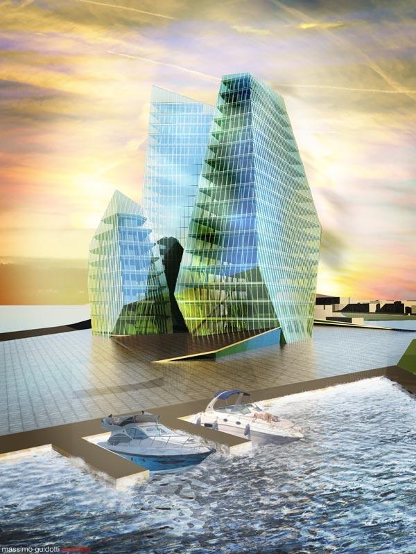 Progettazione porto turistico e centro direzionale